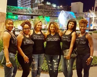 Birthday diva's entourage tank tops , birthday entourage shirts , girls weekend trip , Vegas shirts , birthday t-shirts for women, ladies