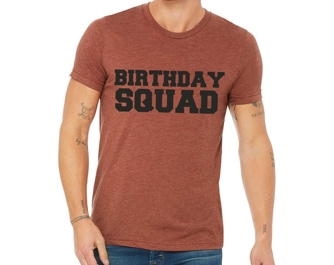 Mens Birthday Squad T Shirt Shirts For Men