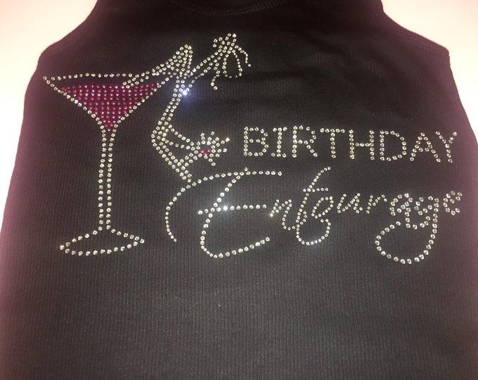 1 Birthday Girl's Entourage Martini Shirts. Birthday Destination Shirts.  Birthday Shirts. Wine Glass Birthday Shirts. Ladies Weekend.