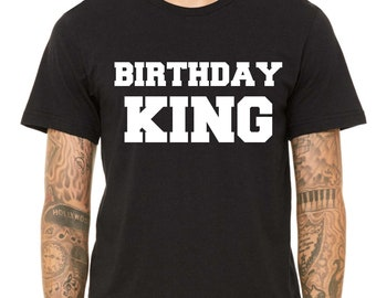 Mens Birthday Shirt / Birthday King t-shirt / Cute birthday shirts for men / Birthday tee / Men's Birthday King Shirts / 40th , forty