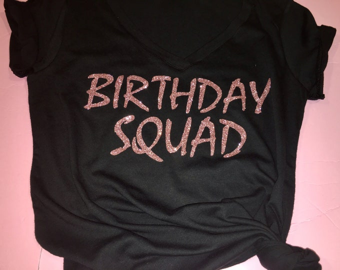 Custom Birthday Squad Shirts Party Group T Queen