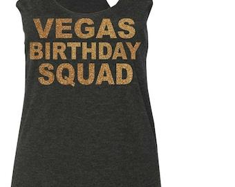 Las Vegas Birthday squad Shirt . Vegas Birthday Gold shimmer Birthday Tees - ladies las vegas birthday Shirts - Cute Birthday Shirt.