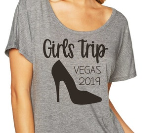 Girls Trip Shirts - your city - high heel birthday shirts for women - Girls Trip t-shirts - off the shoulder slouchy vegas birthday tshirts