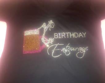 Birthday entourage beer shirt . Women's drinking beer mug shirts . Birthday tanks . 21st, 30th, 40th , 50th birthday shirt. Birthday crew.