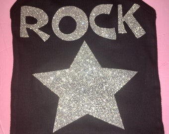 Rockstar Shirt. Personalized Custom Shirt. Dance Shirt. Kids Rock star Shirt. Glitter Shirt. Girls Rockstar Shirt. Sizes 3t, 4t, 5t, 6t