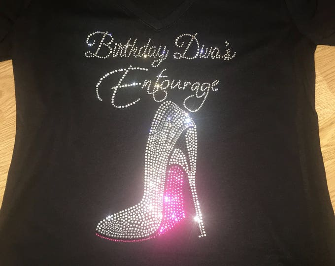 Birthday Diva's Entourage Shirts - Ladies high Heel Birthday Shirts - Birthday T-shirts - Las Vegas, Miami , New Orleans , Cali - Squad