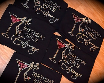 8 Birthday Entourage Shirts. 21st Birthday Shirt. Birthday Gift Ideas. 40th Vegas Birthday. Girls Vegas Weekend Shirt. black. purple . pink.