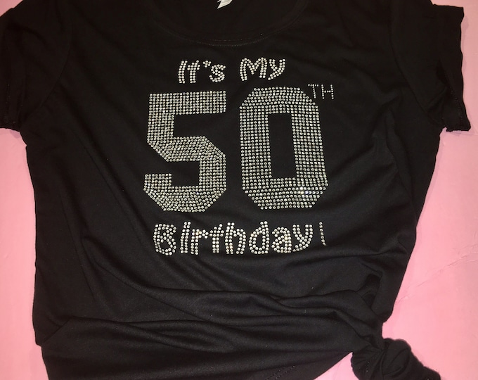 Cute birthday number shirt / birthday shirt women / rhinestone birthday t shirt / 30th 40th 50th birthday tees / girl birthday shirts
