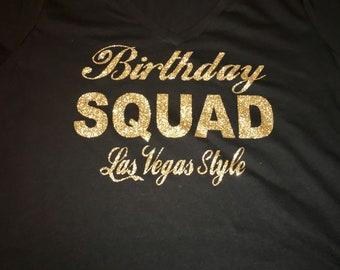 Birthday squad shirts for women , gold glitter birthday tshirt , birthday shirt , custom personalized birthday style tees , tops , ladies