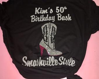 Custom Nashville birthday shirts / Nashville party tshirt / custom birthday shirts / cute rodeo birthday top / country birthday tees /
