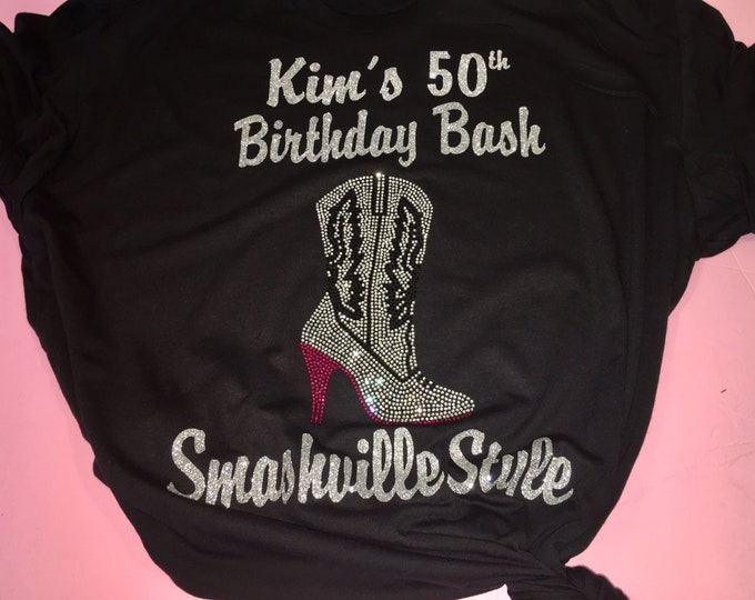 Custom Nashville birthday shirts / Nashville party tshirt / custom birthday shirts / cute rodeo birthday top / country birthday tees /