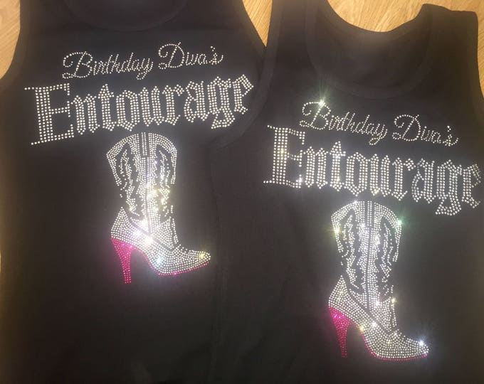 Nashville Birthday Shirts - Girly Boot and Bling - Texas Birthday Shirts - Southern Birthdays  - Choose Quantity / Colors - 4, 5, 6, 7, 8