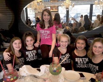 Childrens birthday squad™ shirts . Birth Day Squad Shirts . youth birthday squad shirts . Birthday entourage girls shirts .Birthday t-shirt.