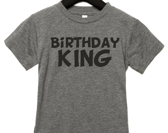 Kids Birthday King Shirt Boys Tshirt Boy Tee Toddler