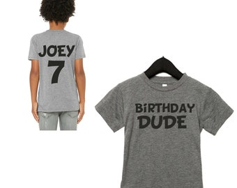 Boys Birthday Shirt / Front and backside birthday t-shirt / Custom boys birthday shirts / Personalized birthday shirt / Kids birthdays
