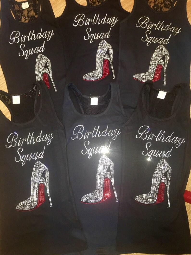 5 6 7 8 Birthday Squad Shirts Ladies T