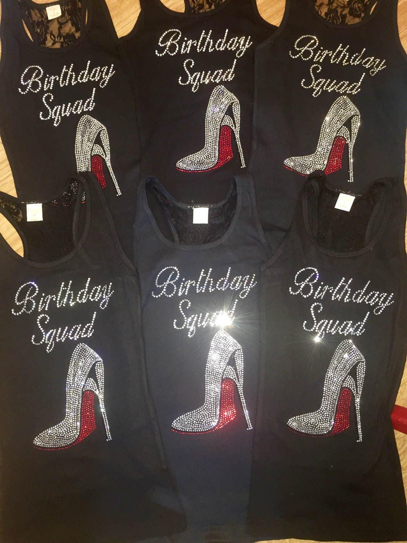 b9e9cd4b9 5, 6, 7, 8 birthday squad shirts. Ladies birthday t-shirts. Birthday squad  stellito tank tops. Birthday tees. Nashville birthday t-shirts.