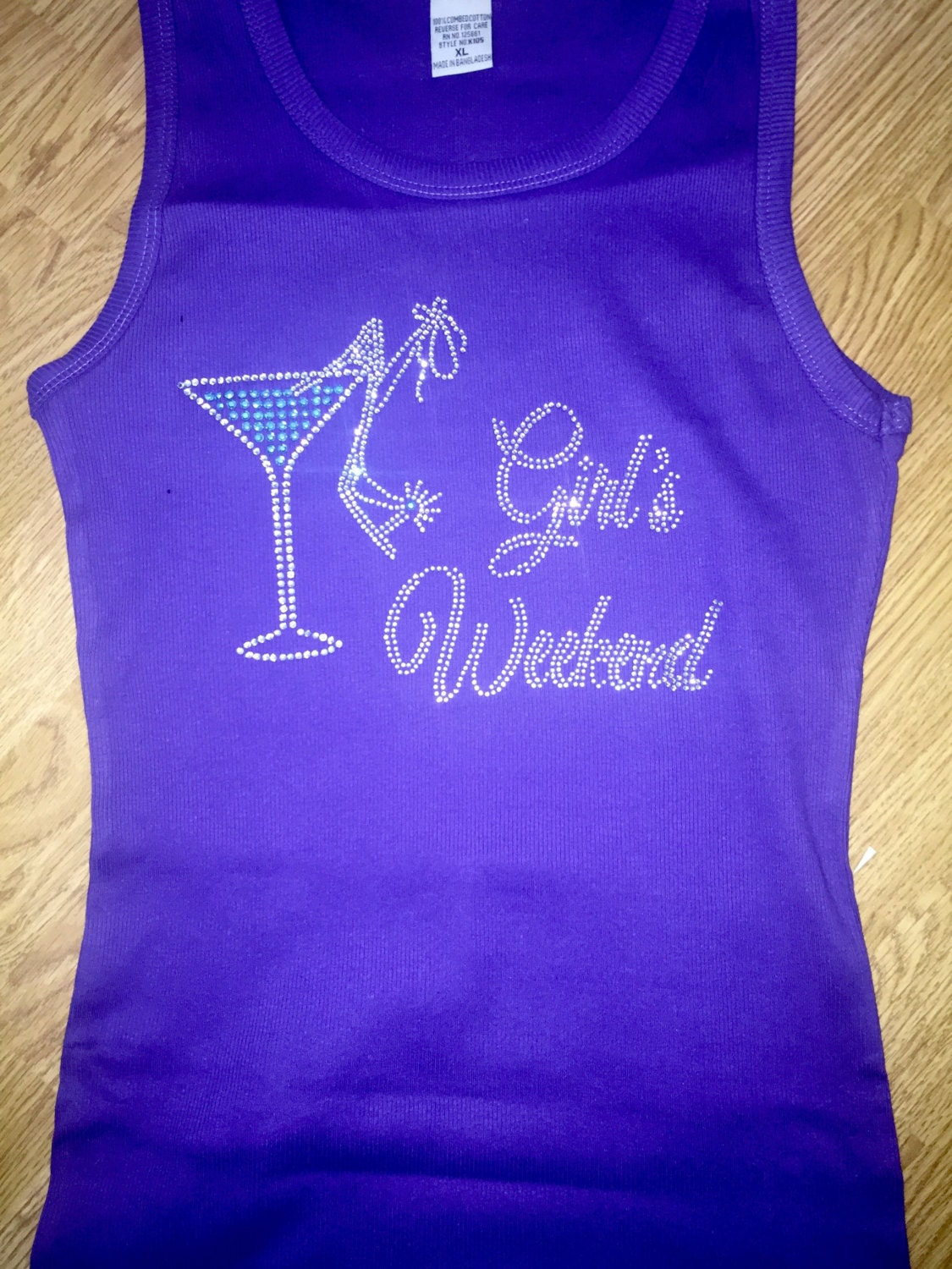 Girls Weekend Tank Top Gift Birthday Lace Shirts Ladies Glitzy Drinking