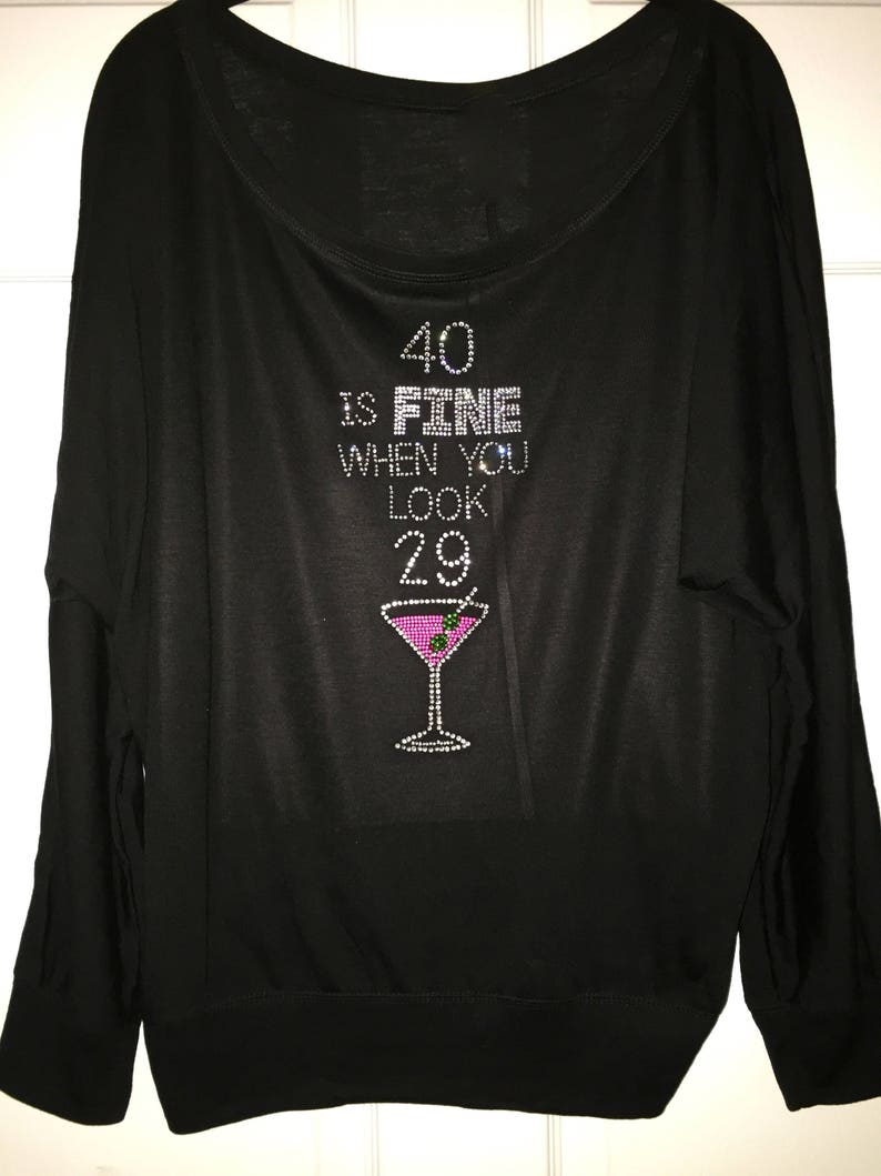 40th Birthday Shirts With Bling T Design Concept
