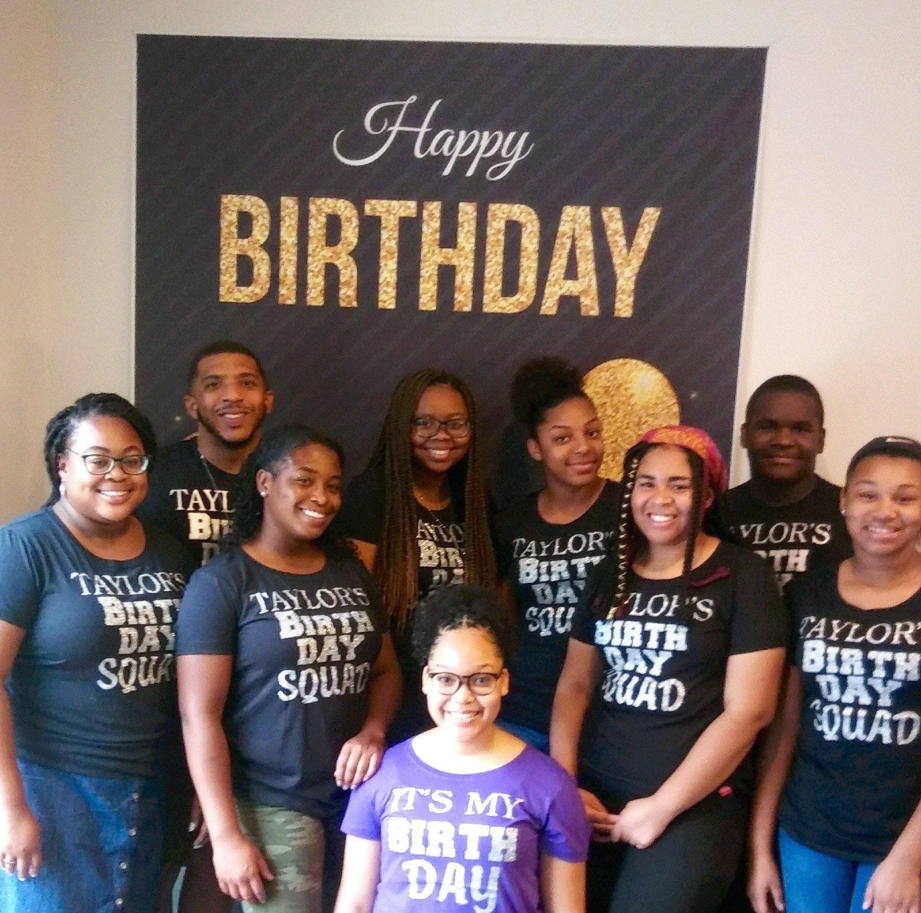 CUSTOM Birthday Squad Shirt Ladies Personalized Shirts Flowy Adult Glitter