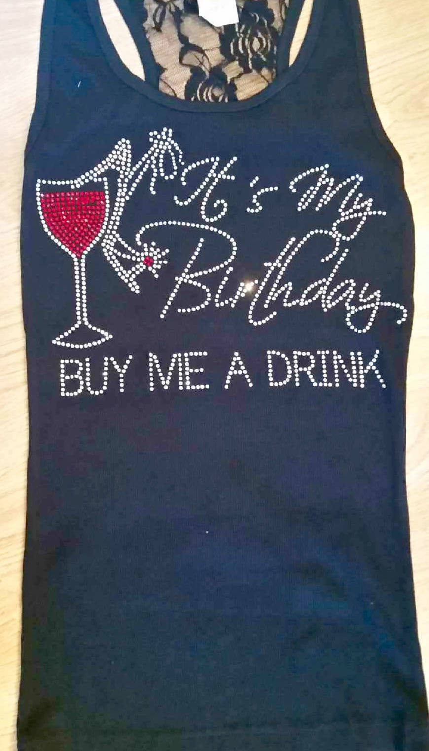 Red Wine Glass Birthday Shirt