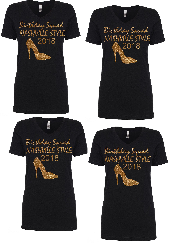 3 Birthday Squad Shirts Ladies T