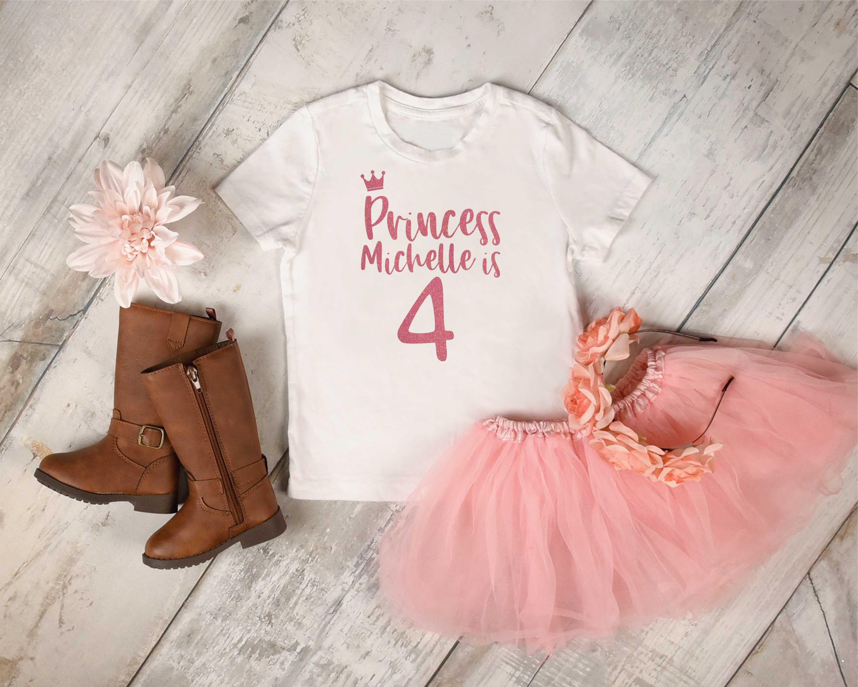 Customized Birthday Princess Tshirt