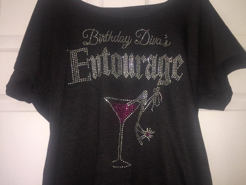80bd47737 Gothic Birthday Diva's Entourage Shirt Pink martini   Etsy