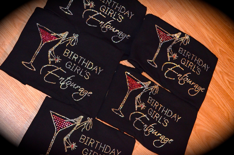 8 Birthday Entourage Shirts 21st Shirt Gift Ideas 40th Vegas Girls Weekend Black Purple Pink