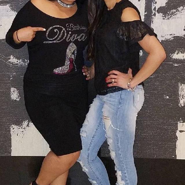 Birthday Shirts For Women Diva Stiletto Shirt Bling With Big Red Bottom Shoe Ladies Tees Black