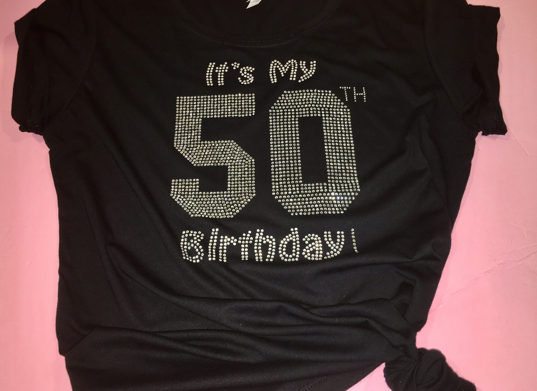 Cute Birthday Number Shirt Women Rhinestone T 30th 40th 50th Tees Girl Shirts