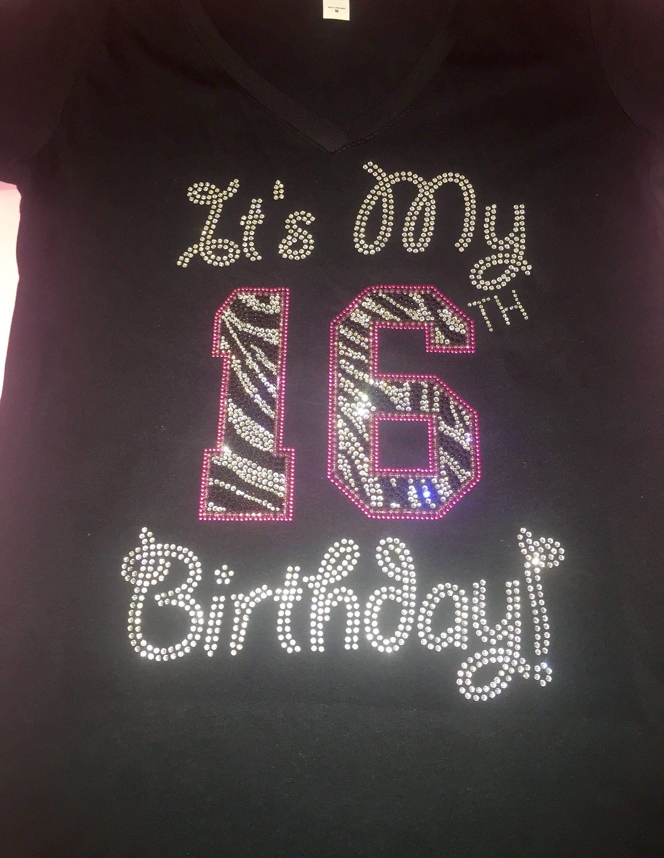 Sweet 16 Shirt Its My 16th Birthday Tshirt Ladies Womens Zebra 21st Sixteen