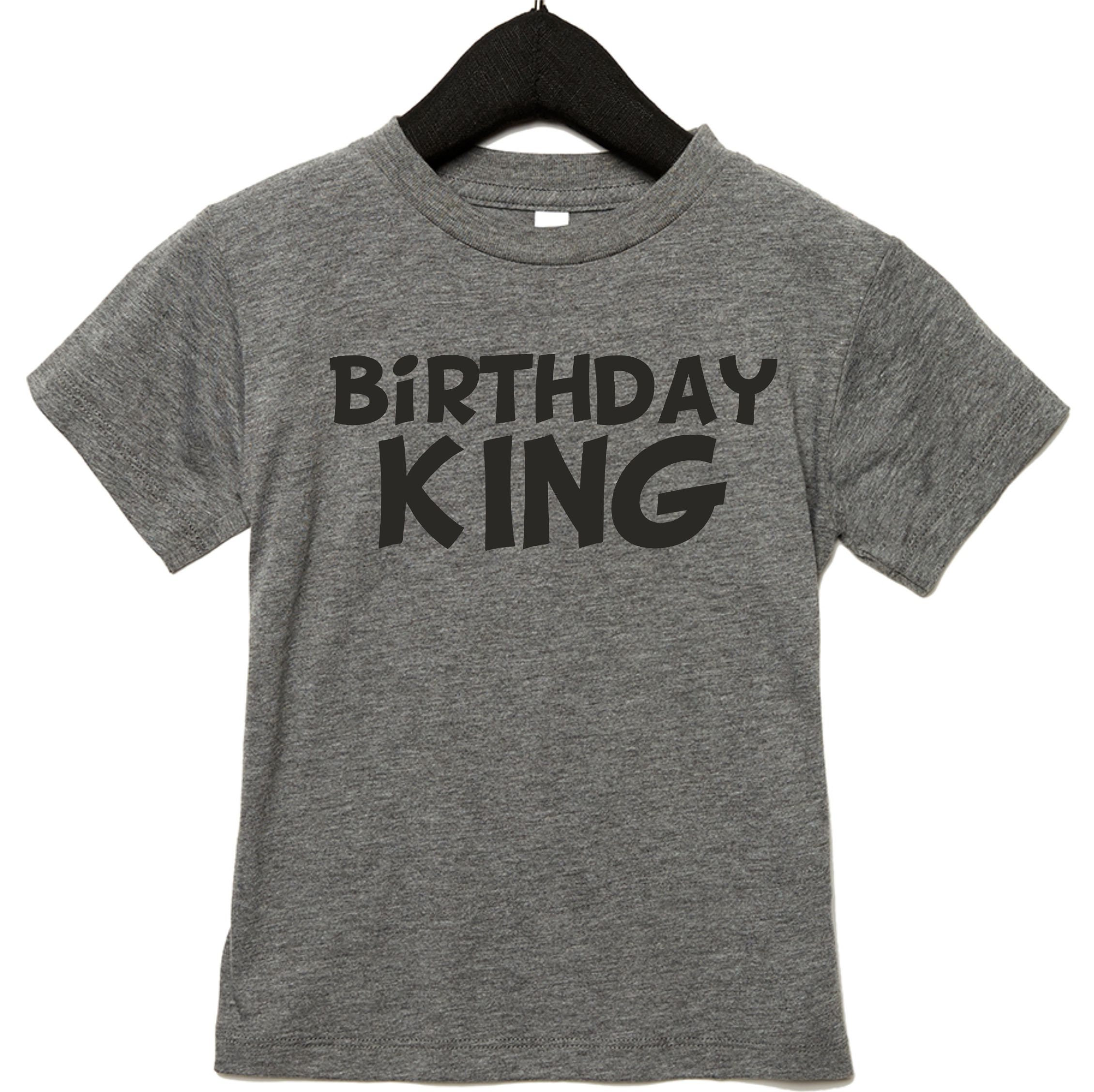 Kids Birthday King Shirt Boys Tshirt Boy Tee Toddler Size 3t 4t 5 6 7 8 Shirts For