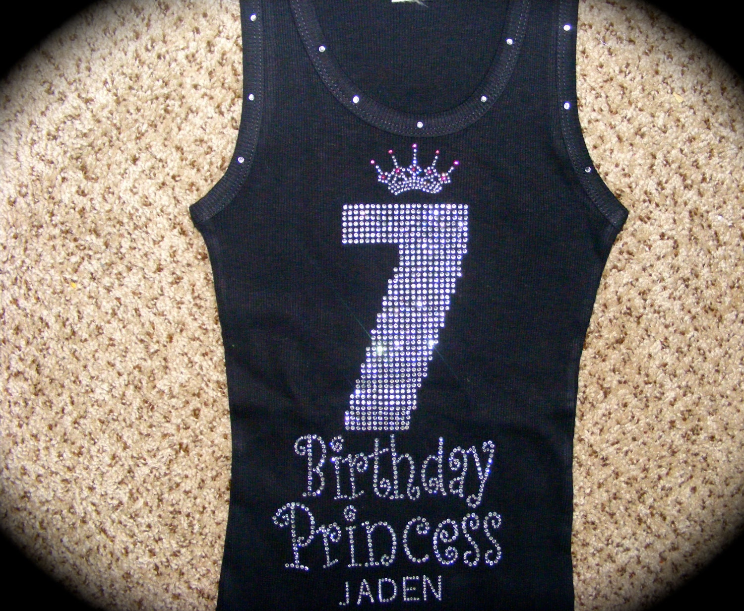 Personalized Princess Birthday Shirt 4th 5th Rhinestone 7th Embroidered