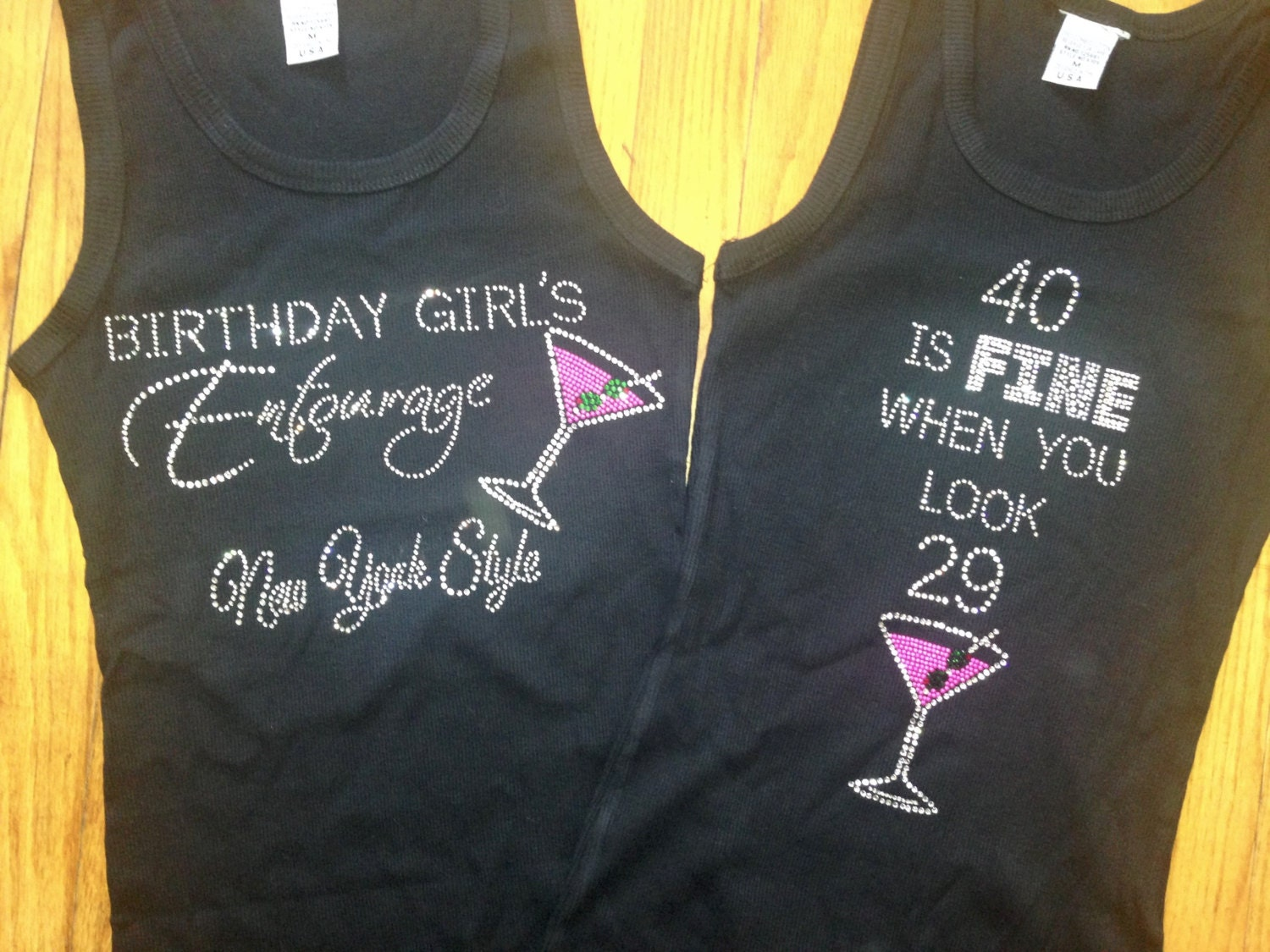 40 Is Fine When You Look 29 Shirt Birthday Ladies Adult Bling 40th Martini Shirts