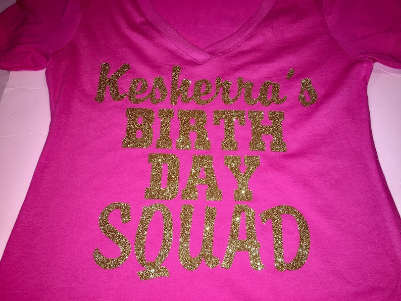 Gold And Hot Pink Birthday Shirt Cute Entourage