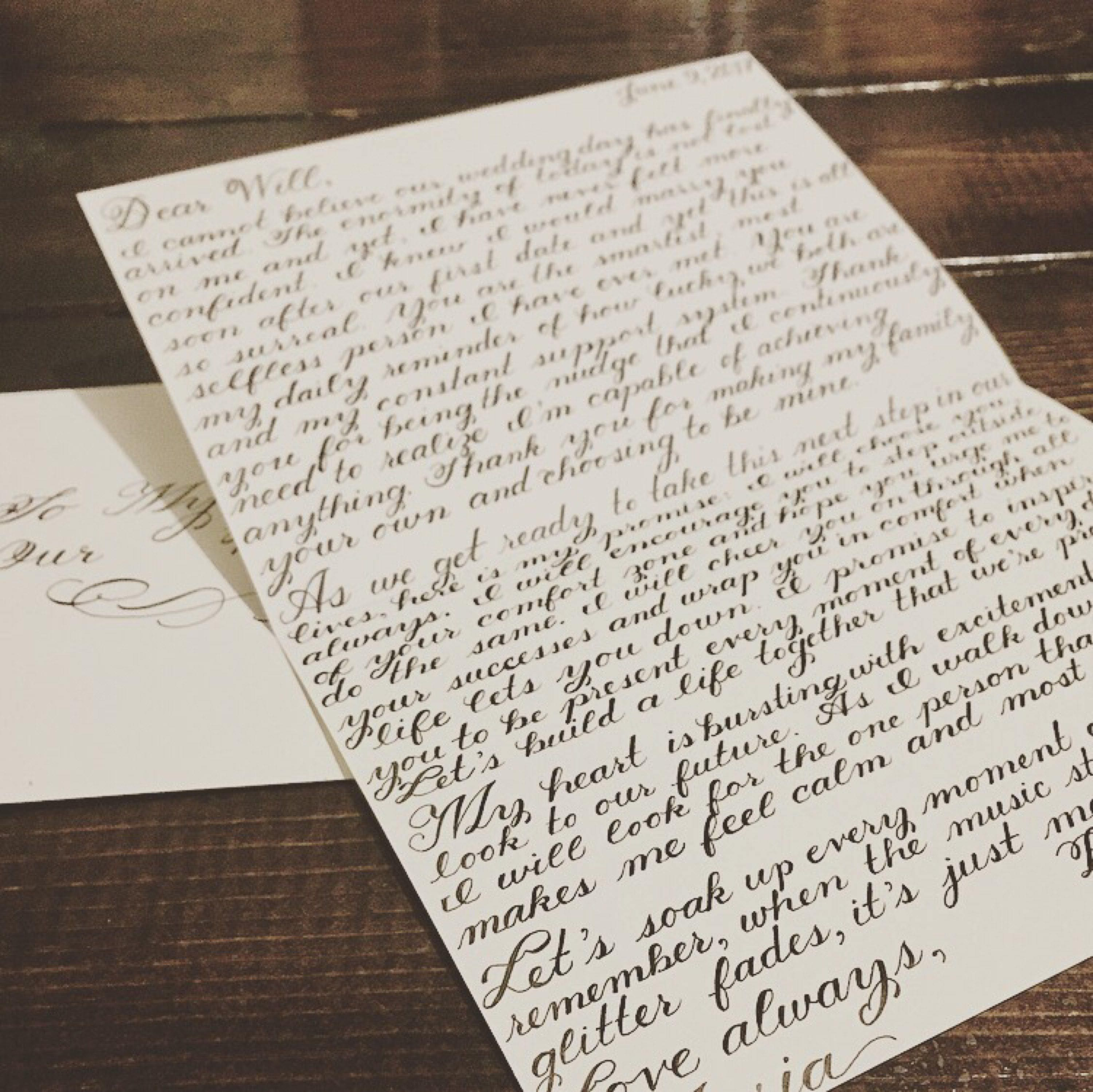 Letter To Husband On Wedding Day