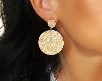 Cz earring, crystal earring, bridal jewelry, statement jewelry