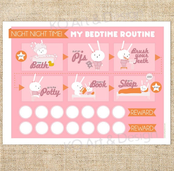 Free Printable Bedtime Sticker Chart