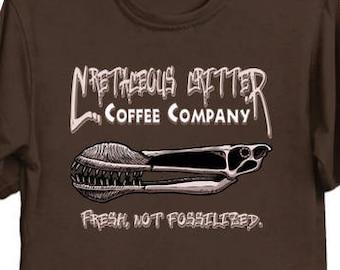 Cretaceous Critter Coffe Company - Dino Shirt Dinosaur Pterosaur Pterodactyl Pteranodon Coffee T-Shirt Funny Tee