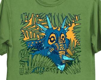 Styracosaurus Jungle - Dino Shirt Dinosaur Triceratops Styracosaurus T-Shirt Science Tee