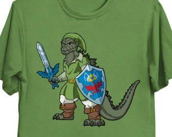 Hero of Monsters - Godzilla Shirt Nintendo Legend of Zelda Kaiju Gojira Link T-Shirt Video Game Tee