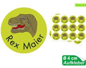 108 Namensaufkleber Set Schule Kita Dinosaurier Dino Dinos Name Aufkleber A128