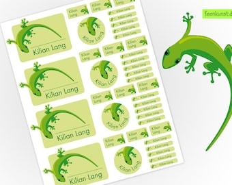 School Starter Set - Gecko - 40 Stickers