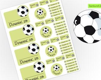 School starter set - football - 40 stickers