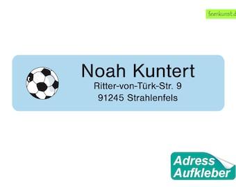 15 Address sticker - Football