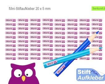 80 Mini Pen Stickers - guckuck owl