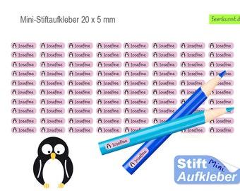 80 Mini Pen Stickers - penguin