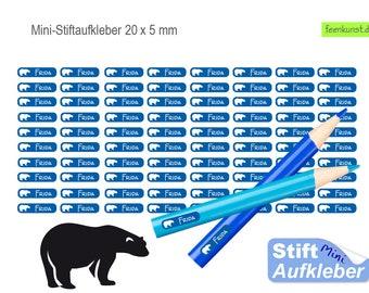 80 Mini Pen Stickers - Polar Bear