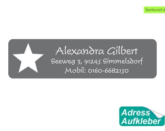 15 Address sticker - star